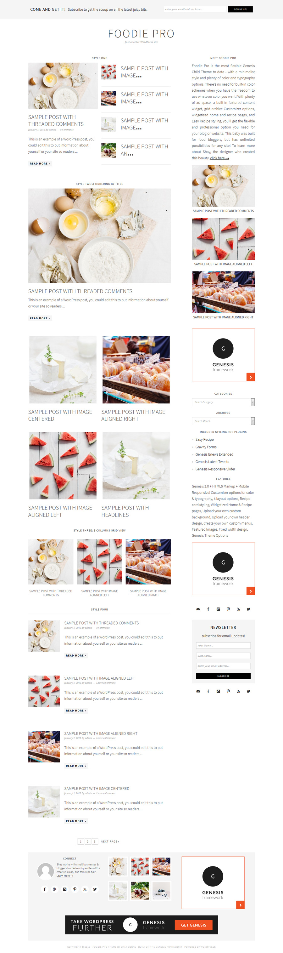 Foodie PRO & Genesis Featured Post Combo Plugin