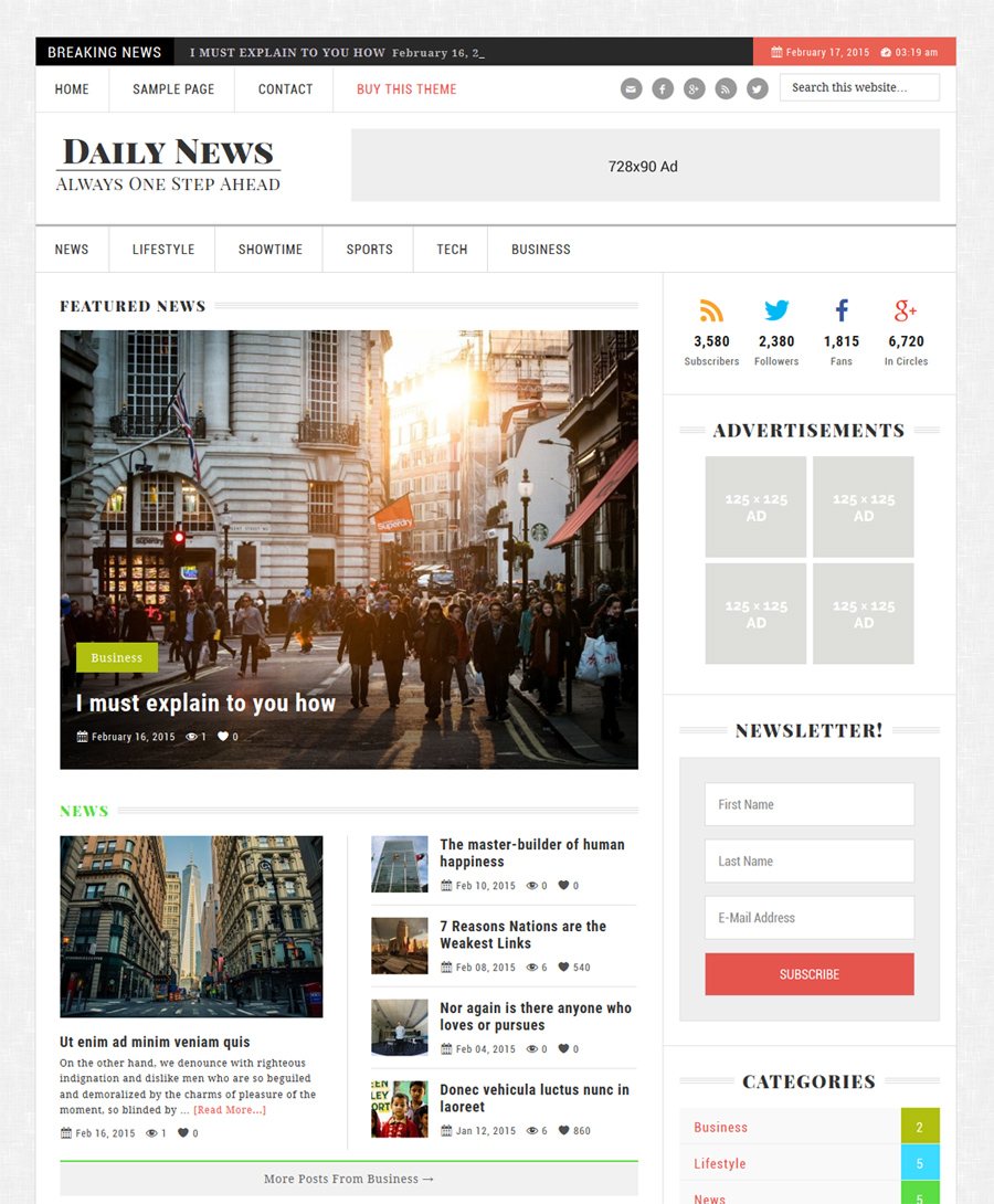 Daily News Theme