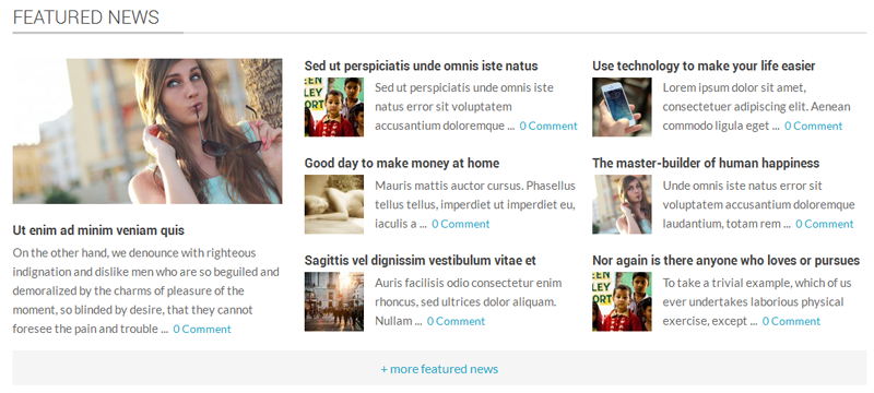 Featured News Section