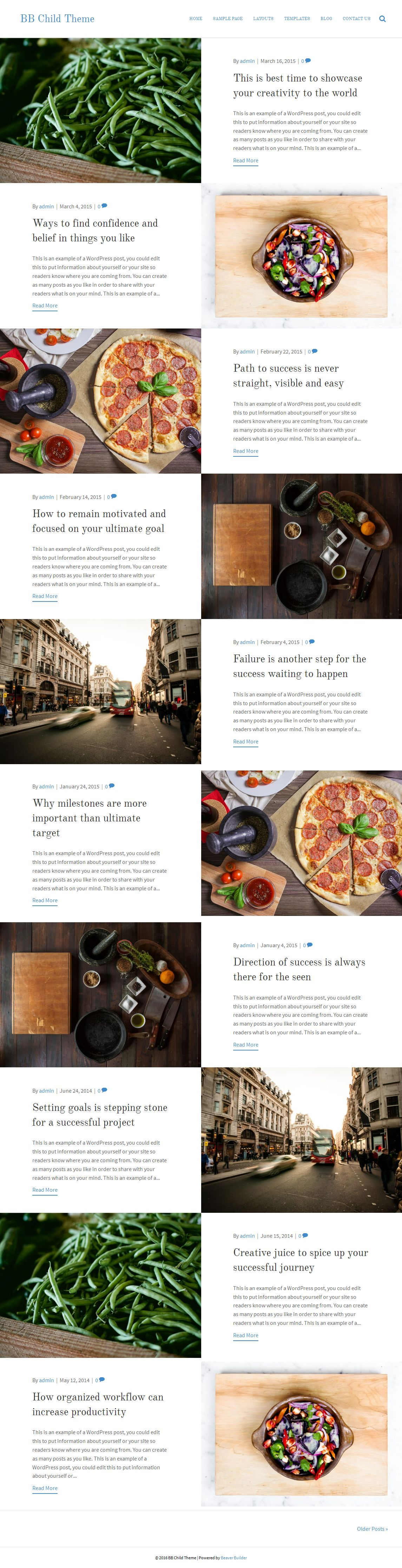 Full Width Checkerboard Layout in Beaver Builder theme