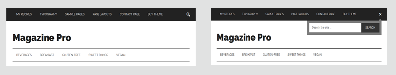 Toggle Search Form in Magazine Pro Theme